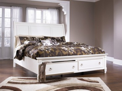 Ashley Prentice B672-74-77-98. Кровать Queen Size Ashley Prentice.